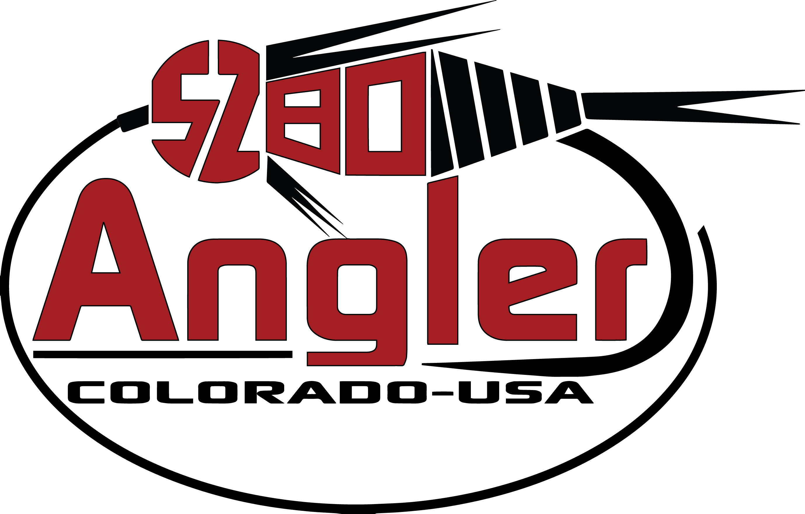Colorado Fly Fishing Art - 5280 Angler Logo